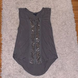 American Eagle small grey sparkly top